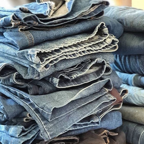 old second hand jeans