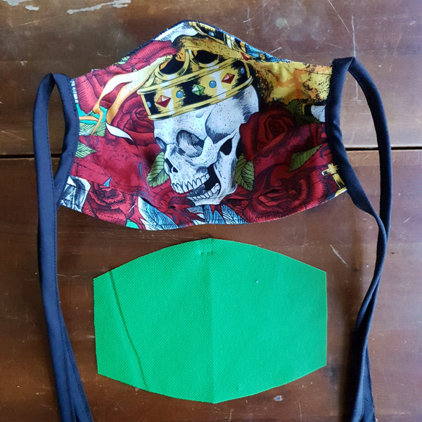 Fabric Mask - Royal Skullys Lining