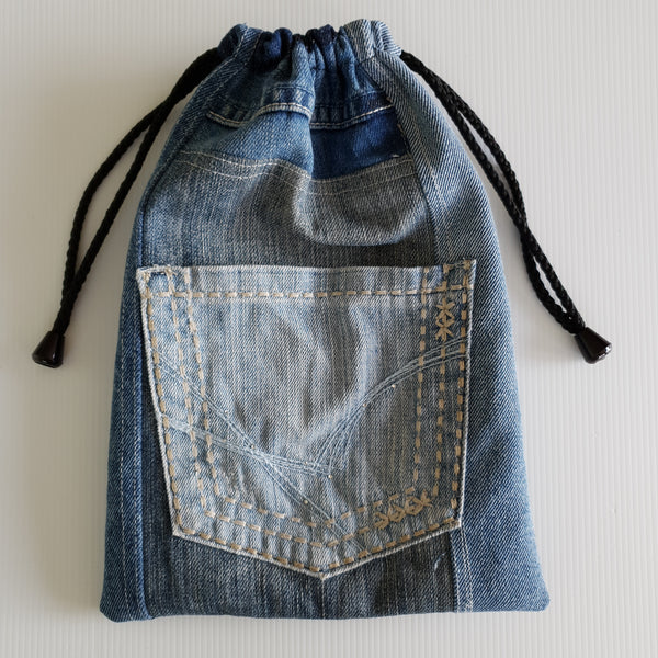 MAGIC Bag - Cool Blue Mushroom Lining with tiny diamonte on pocket