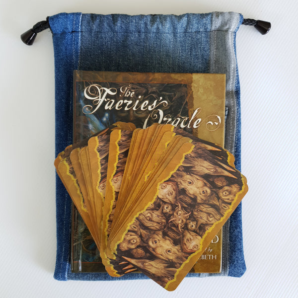 MAGIC Bag - Indigo Hue Mushroom Lining - Corduroy feature on Denim Outer