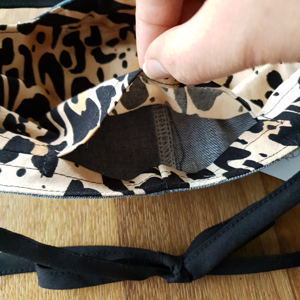 Fabric Mask - Cheetah Lining