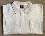 Big Mens 100% Cotton Polo - Ash