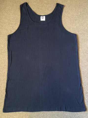 Big Mens Undergarment Singlet - Navy