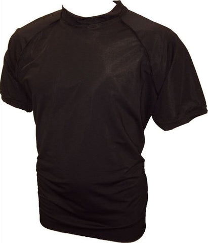 Big Mens Black Rash Vest