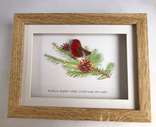 "Load image into Gallery viewer, ""Robins appear when loved ones are near"" Christmas Needle Felting"