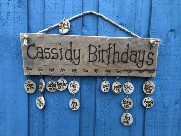 Personalised birthday sign