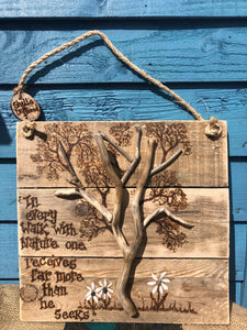 NATURE DRIFTWOOD WALL HANGING