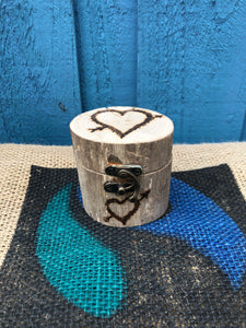 PERSONALISED DRIFTWOOD RING BOX