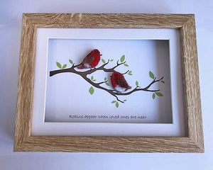 """Robins appear when loved ones are near"" Needle Felting"