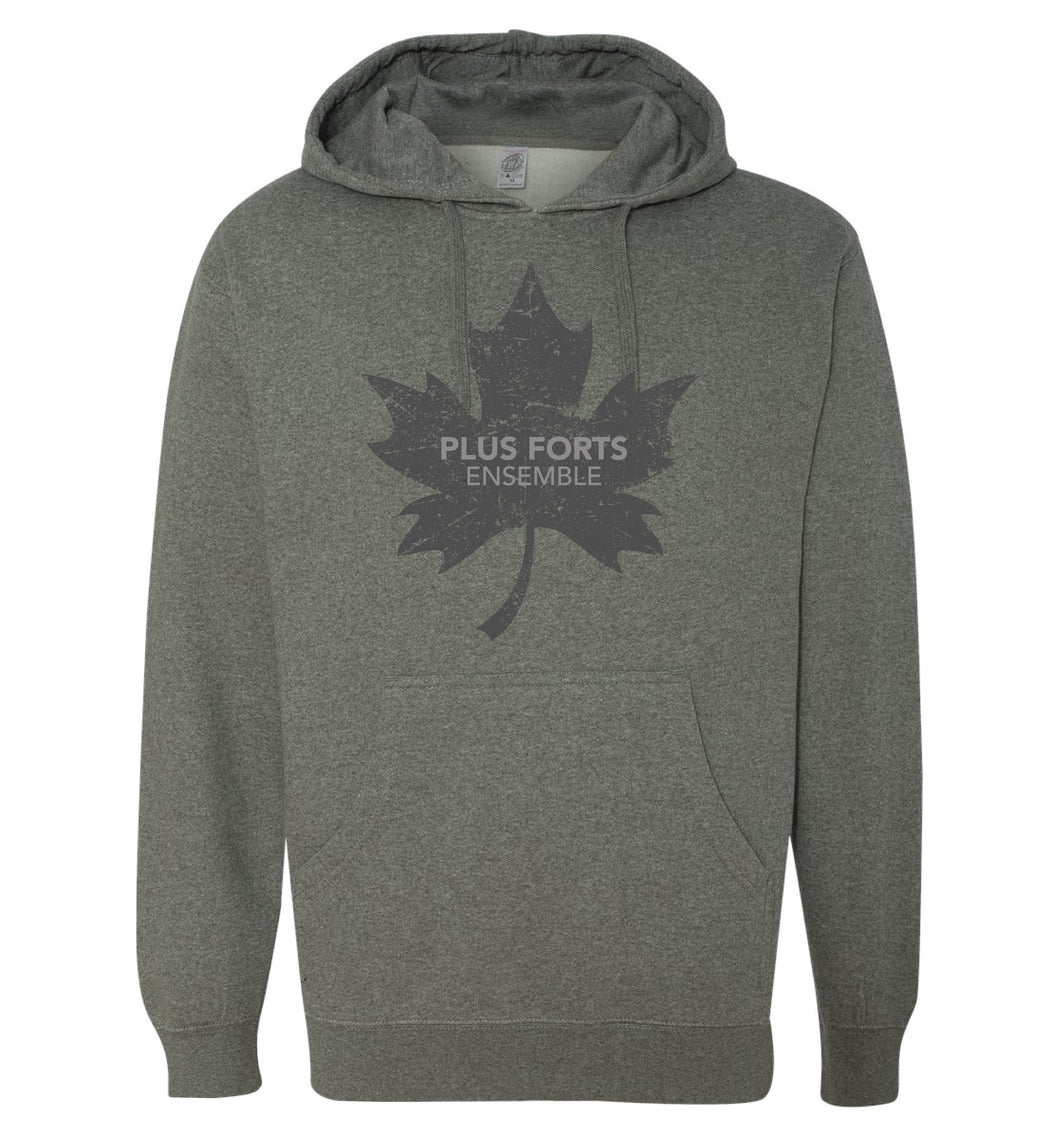 Stronger Together - Plus forts ensemble - feuille d'érable grise - chandail à capuchon - Hoodie
