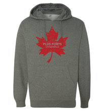 Load image into Gallery viewer, Stronger Together - Plus forts ensemble - feuille d'érable rouge - chandail à capuchon - Hoodie