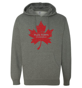 Stronger Together - Plus forts ensemble - feuille d'érable rouge - chandail à capuchon - Hoodie