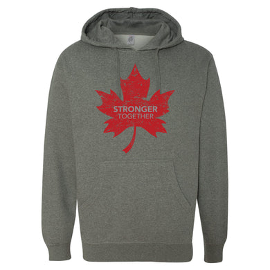 Stronger Together - Stronger Together - Red Maple Leaf - Hoodie - Hoodie