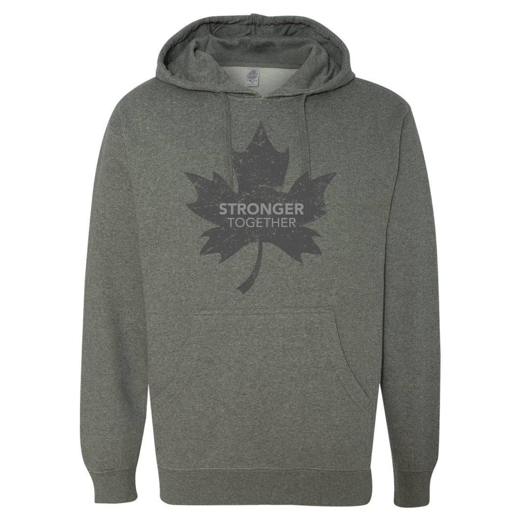 Stronger Together - Stronger Together Grey Maple Leaf - Hoodie - Hoodie