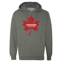 Load image into Gallery viewer, Stronger Together - Stronger Together Maple Leaf (RD/WH) - Hoodie - Hoodie