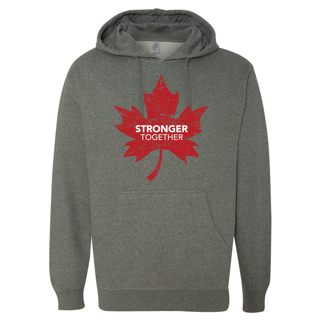 Stronger Together - Stronger Together Maple Leaf (RD/WH) - Hoodie - Hoodie