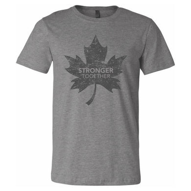 Stronger Together - Stronger Together Maple Leaf (GRY) - T-Shirt