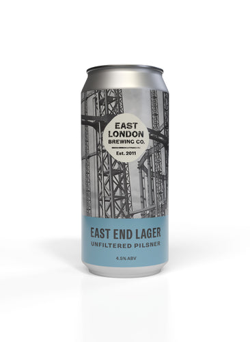 East End Lager (4.5% ABV) Case 12 x 440ml Cans
