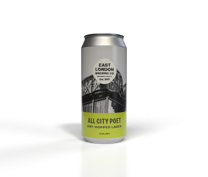 All City Poet Dry-Hopped Lager (5.0% ABV) Case 12 x 440ml Cans