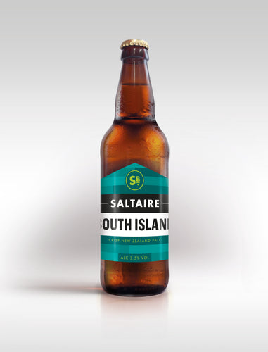 South Island. Crisp New Zealand Pale, 3.5%, 8x500ml bottles.