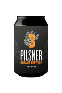 Bedlam Pilsner Case 12x330ml Cans