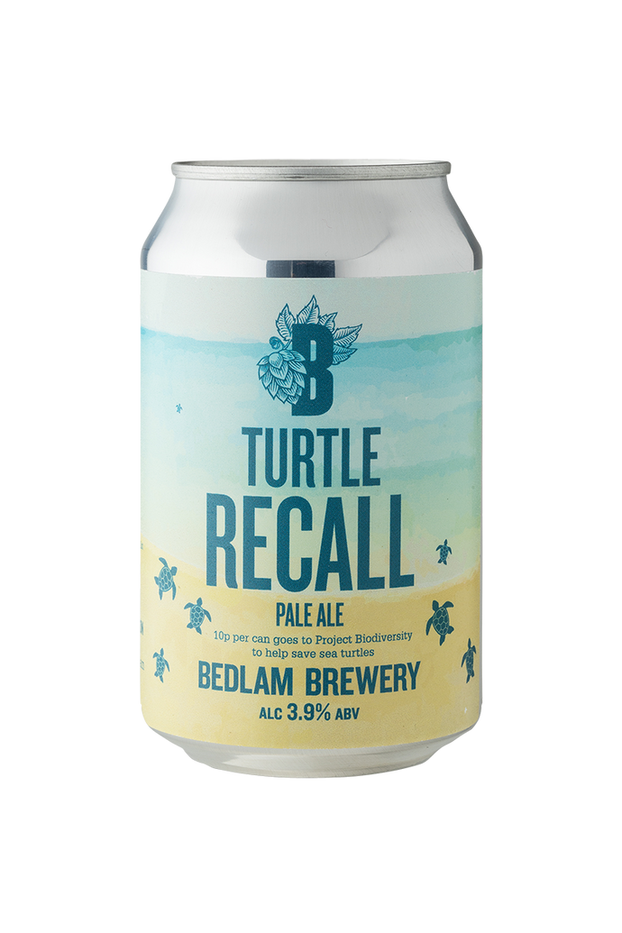 Bedlam Turtle Recall Pale Ale Case 12x330ml Cans