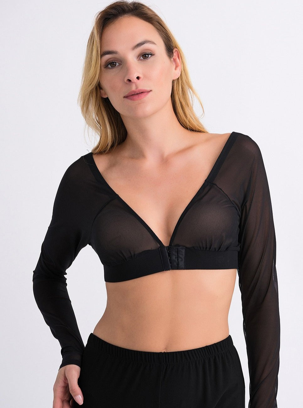 Sheer Black Underlay Cami