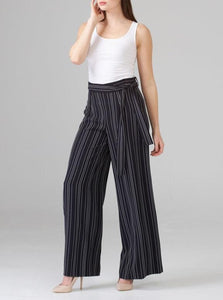Wide Leg Pin Stripe Pant: