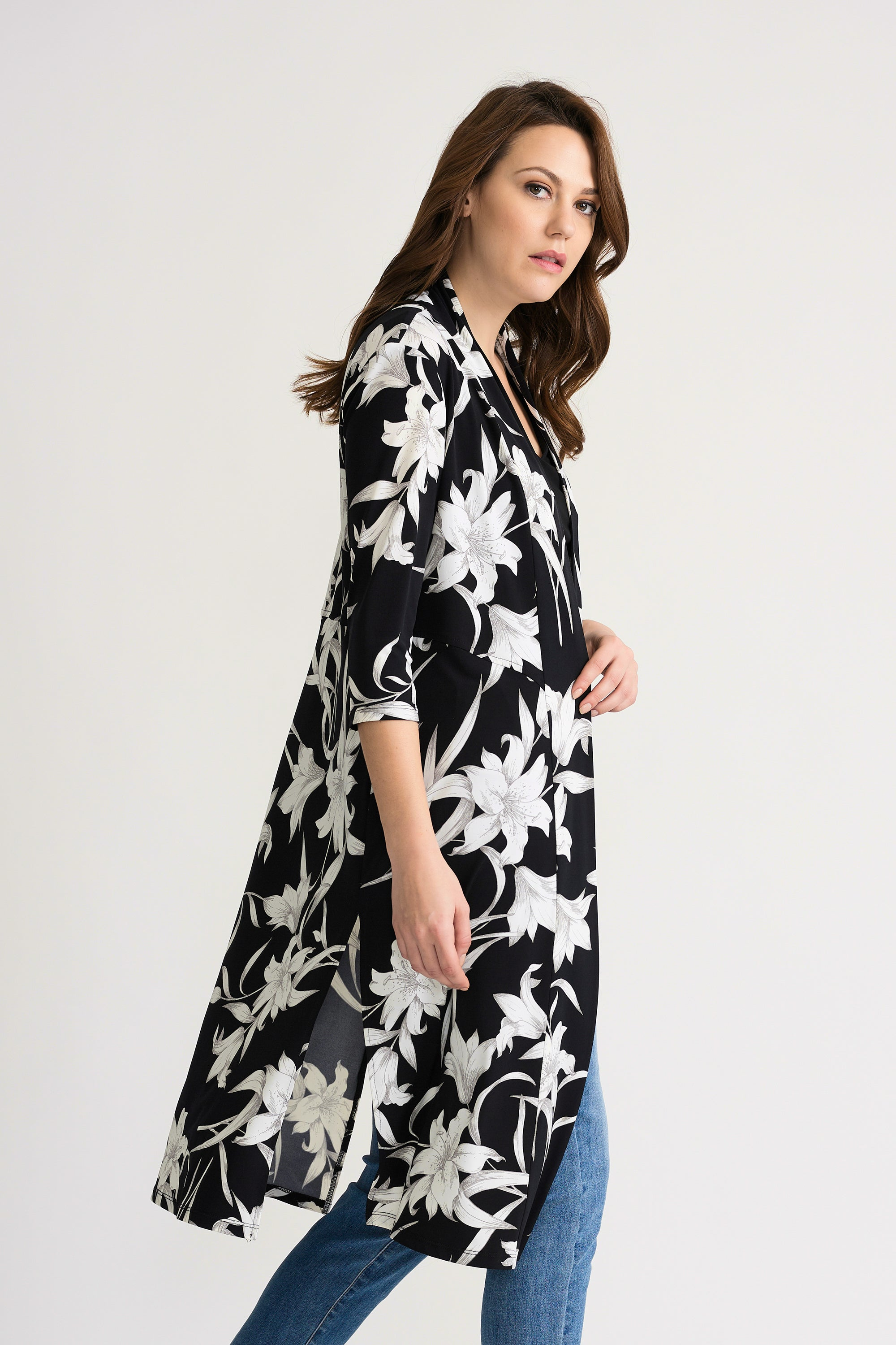 Floral Long Cardi / Beach Cover