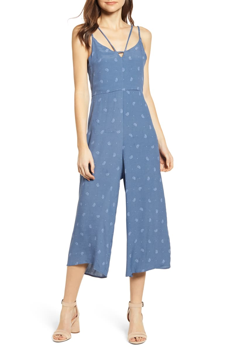 Peekaboo Jumpsuit Light Blue