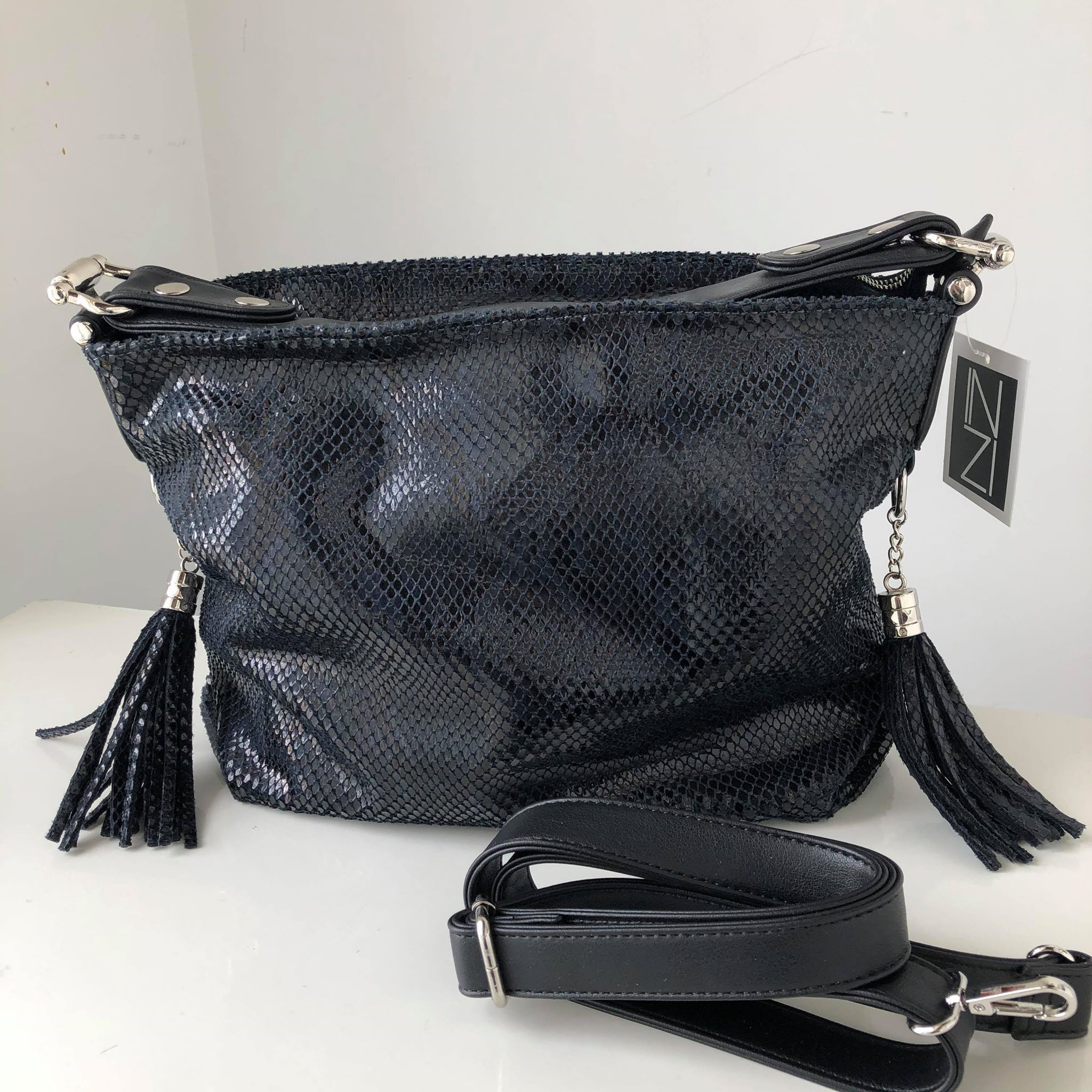 Python Crossbody with Tassel