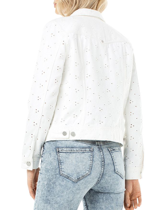 Eyelet Denim Jacket