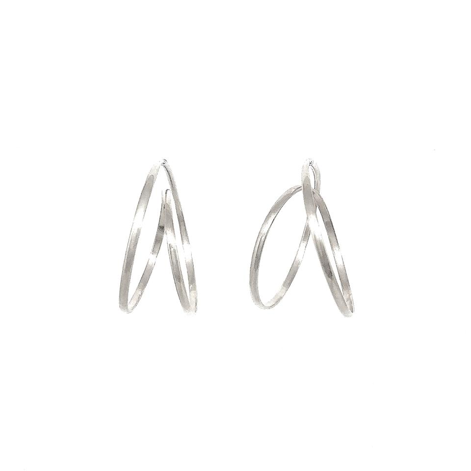 Rollercoaster Earrings - Sterling Silver