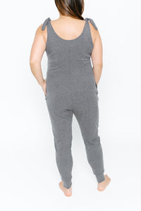 Not Your Average Romper in Charming Charcoal