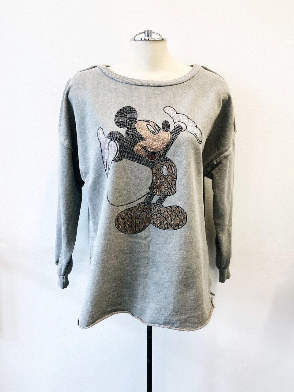 Mickey Mouse Sweatshirt Grey
