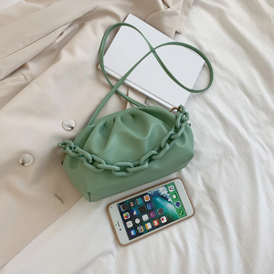 Green Clutch with Link Strap