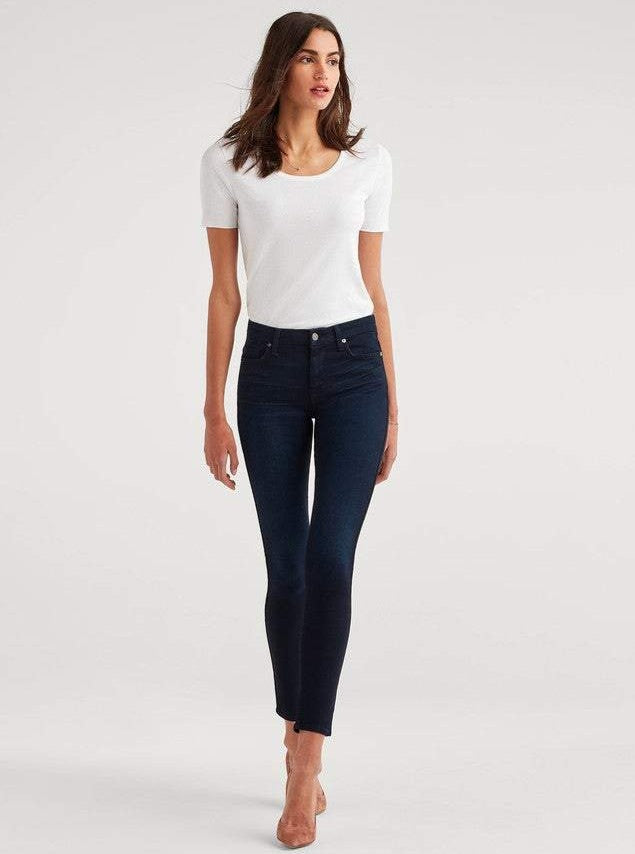 B(air) Denim High Waist Skinny in Blue Black River Thames