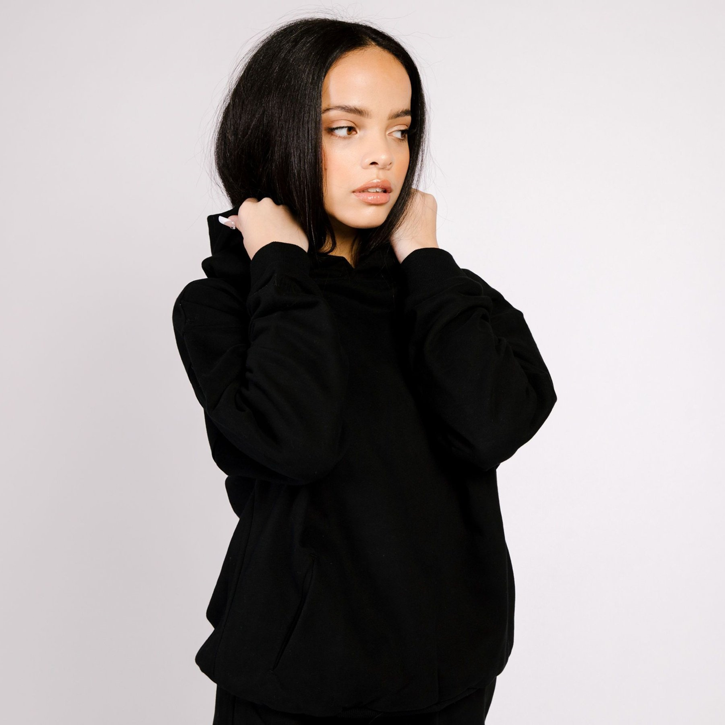 Butter Fleece Hoodie Black