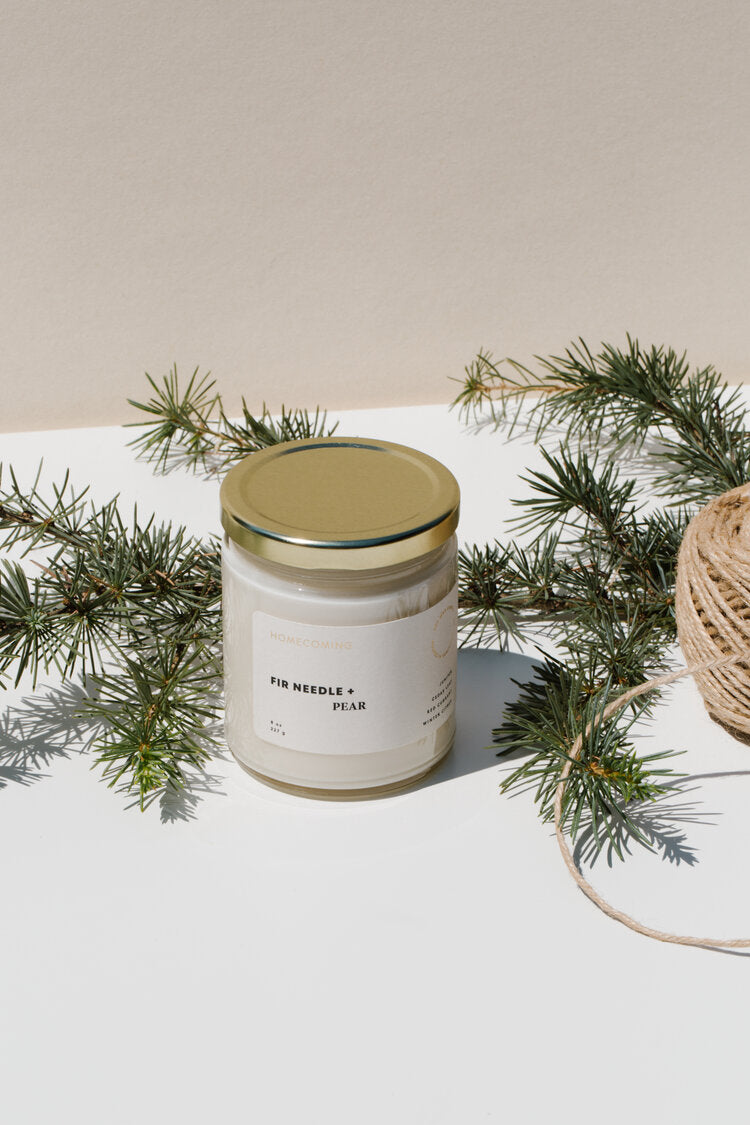 Fir Needle + Pear Soy Candle
