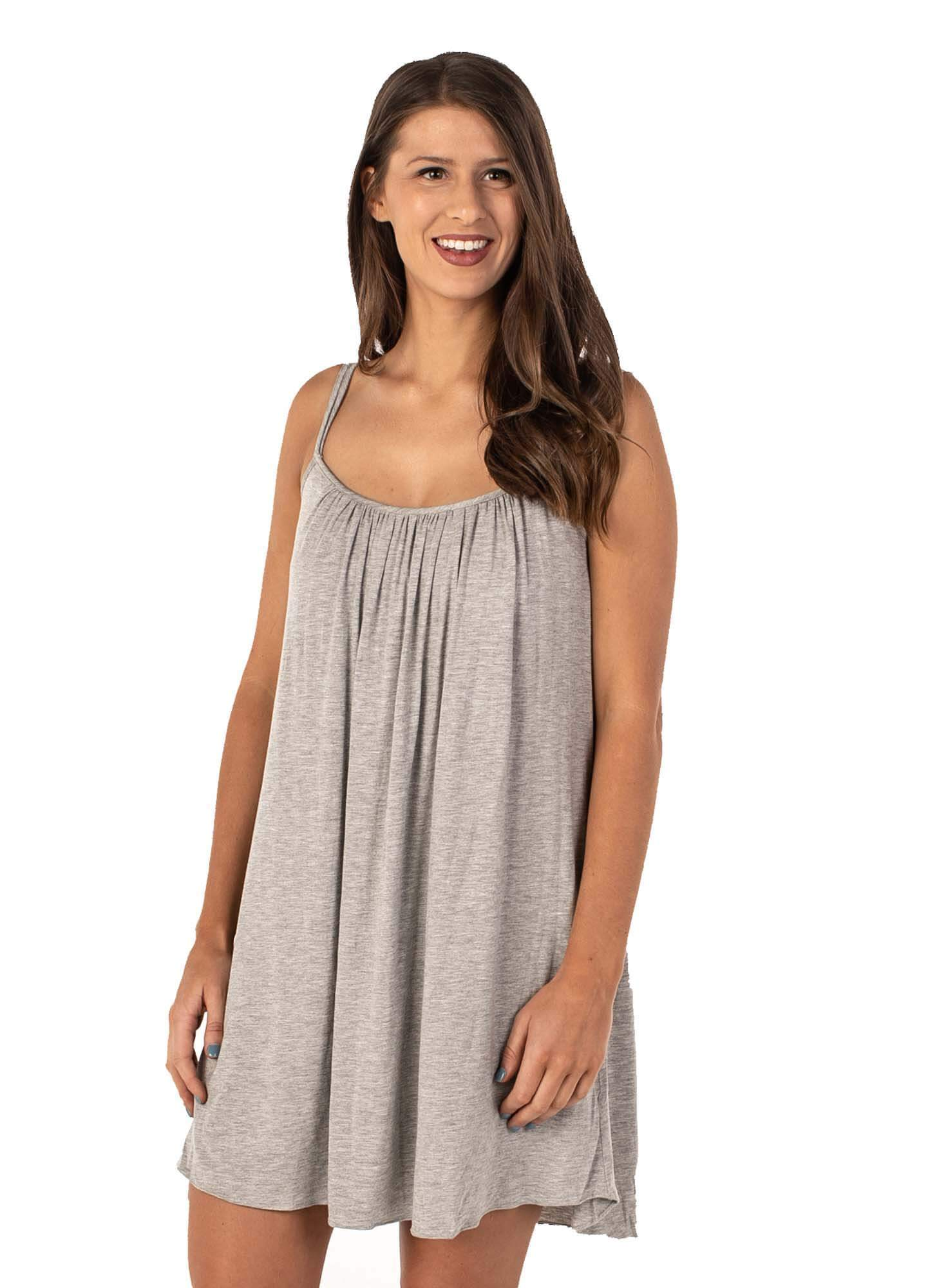 Amelia Pleated Nightgown with Built In Bra