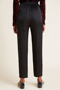 HILLARY Satin Viscose Pleated Pant