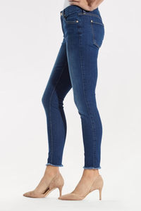 B(Air) Ankle Skinny with Raw Hem in Reign
