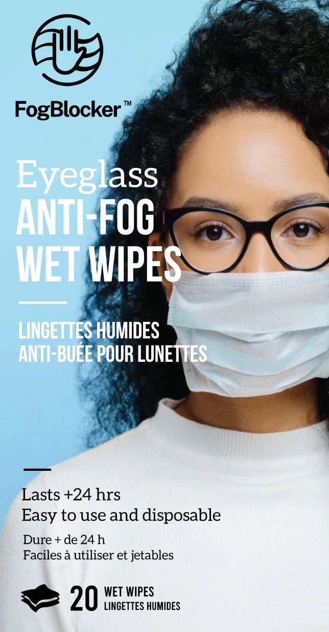 Eyeglass Anti-Fog Wet Wipes