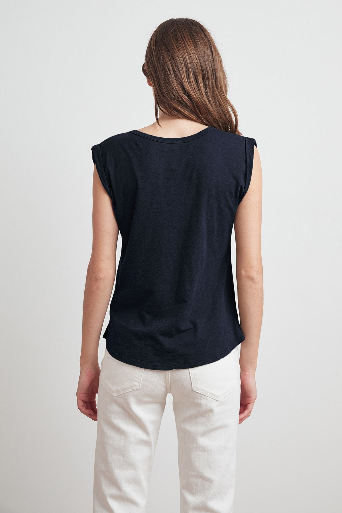 JAYDEN Cotton Slub Scoop Neck Tee