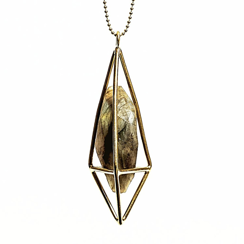Lumia Necklace - Labradorite & Gold Plated