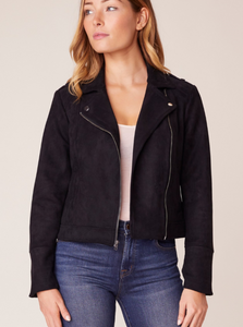 Open Mic Faux Suede Jacket
