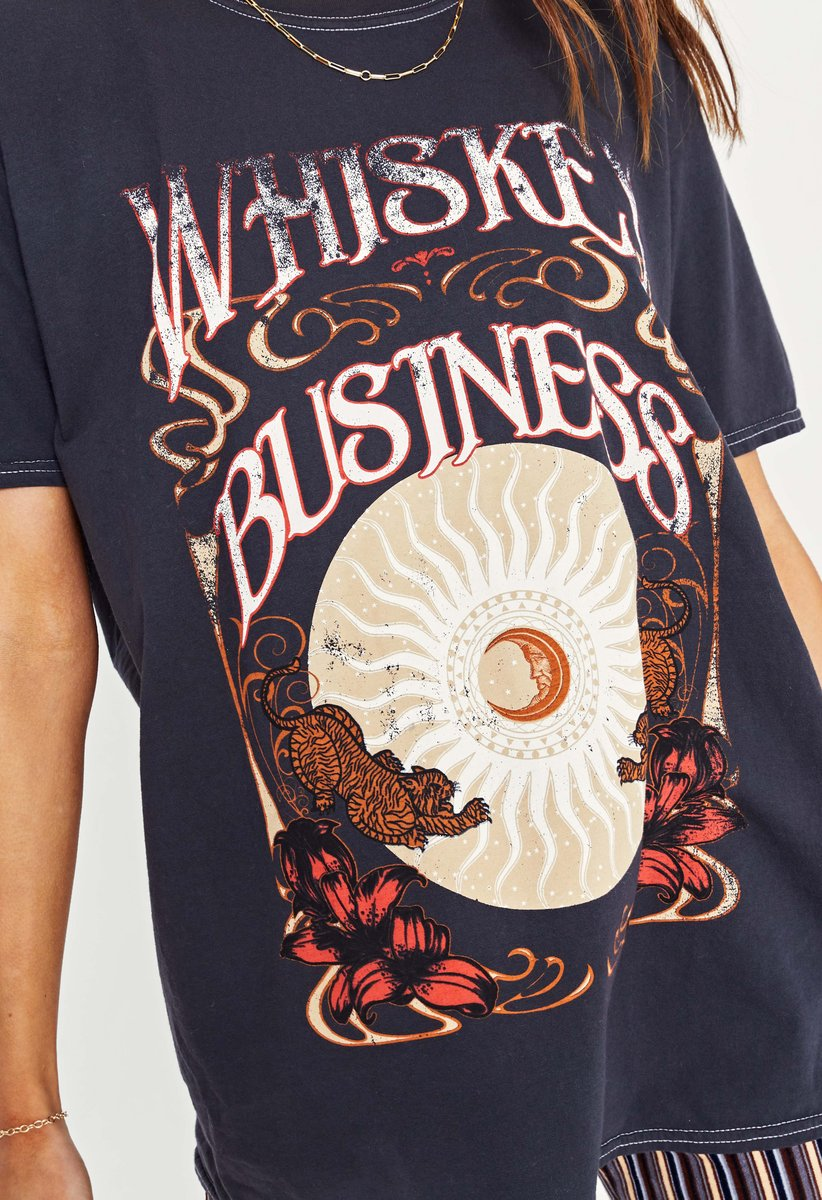 Whiskey Business Oversized Tee