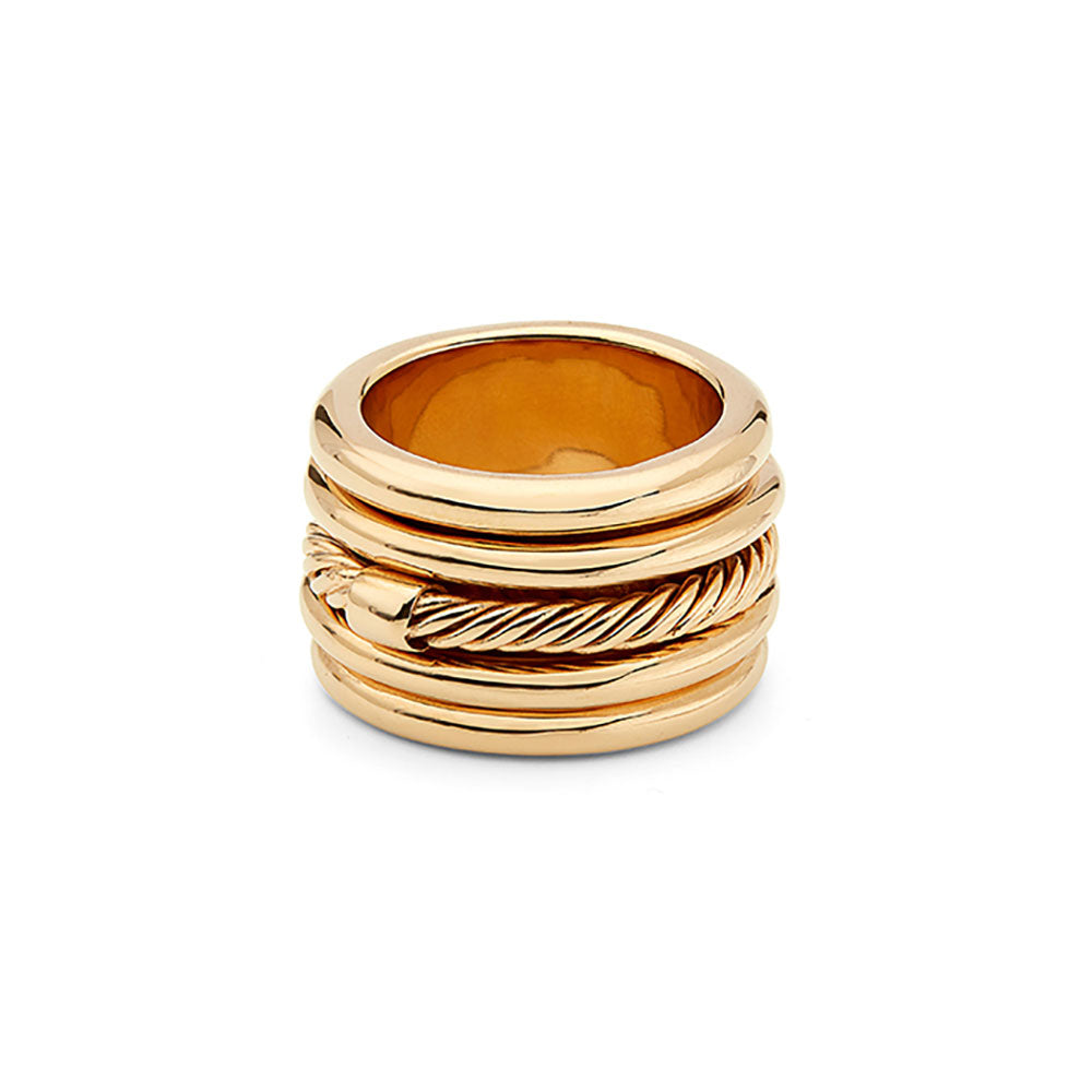 Uzi Statement Ring Gold