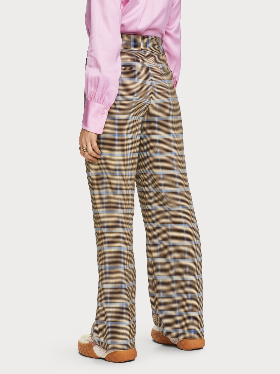 Checked Seersucker Trousers