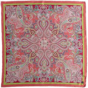 Summer Paisley Silk Square Printed Neckie